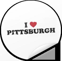 I *heart* Pittsburgh Sticker